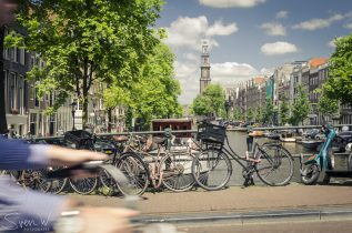 amsterdam, westertoren, toerist, fiets, gracht, kerk, brug, sven, fotografie, muur