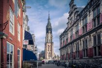 delft, stedelijk, kerk, plein