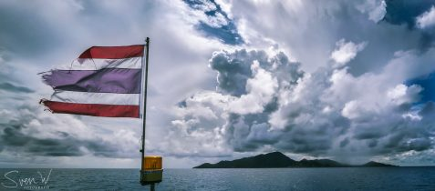 thailand, chumphon, reizen, muur, wanddecoratie, kopen, gratis, verzending, duiken, vlag,