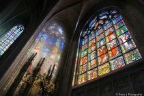 brussel, kerk, glas in lood, oud, stad, stedelijk,